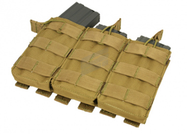 Condor / OE TECH MOLLE Open Top Triple M4 / M16 Pouch ( TAN )