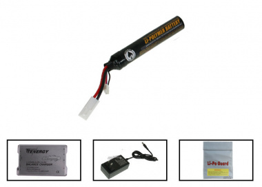 SOCOM Gear 7.4v 1000mAh LiPo Stick Battery Package ( Battery , Charger , & Liposack )