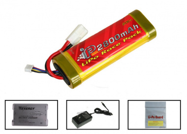 (Discontinued) TSD 11.1V 2800mah LiPo Large Battery Package (Battery , Charger & Liposack)