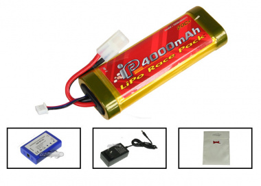 ( Discontinued ) TSD 7.4V 4000mah LiPo Large Battery Package ( Battery )