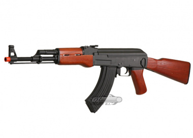 CM046 Full Metal / Real Wood Blow Back AK-47 AEG Airsoft Gun