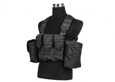 King Arms MPS AK Combat Chest Rig ( Black )