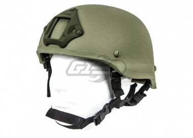Lancer Tactical MICH 2002 Helmet W/ NVG Mount ( Foliage Green )