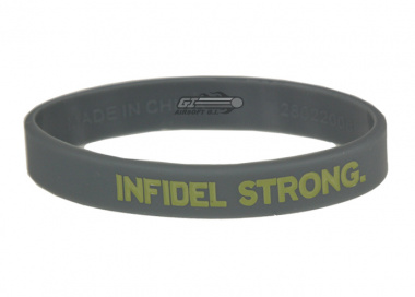 MM Infidel Strong Band ( Grey w/ Tan Text ) Large