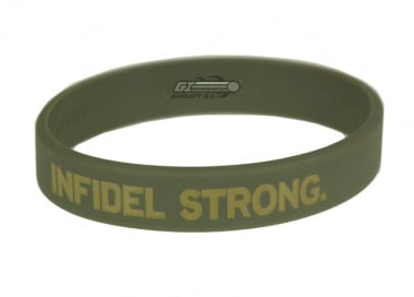 MM Infidel Strong Band ( Sage Green w/ Tan Text ) Large