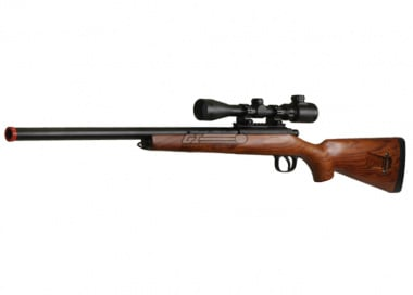 * Discontinued * AGM Full Metal / Real Wood MP-001 Bolt Action Sniper Rifle Airsoft Gun