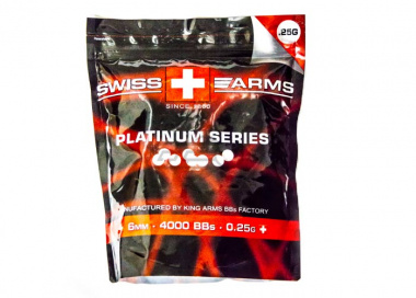 Swiss Arms Platinum Series .25 g 4000bbs (White) By King Arms