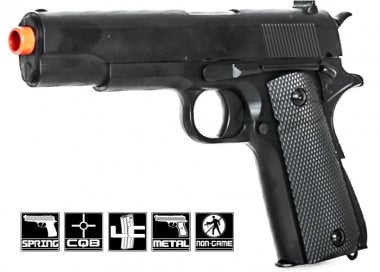 "CYMA P819 1911 Government 8.5"" Metal Spring Pistol Airsoft Gun"