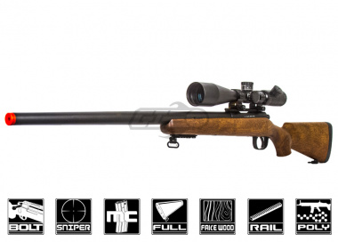 WELL MB03W Bolt Action Sniper Rifle Airsoft Gun ( Fake Wood Stock )