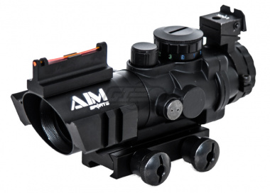 AIM Sports Fiber Optic 4x32 Tactical Compact Scope ( Arrow Reticle )