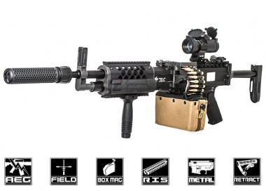 Knight's Armament Full Metal Stoner LMG AEG Airsoft Gun