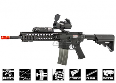 "ARES Full Metal M4E URX 3.1 10.75"" Mid-Length Carbine w/ Electronic Trigger System Airsoft Gun"