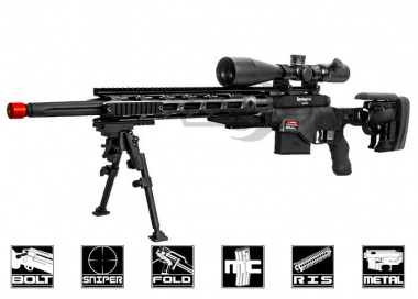 Ares Full Metal Remington MSR Airsoft Gun ( Black / Deluxe 550 FPS)