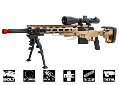 Ares Full Metal Remington MSR Airsoft Gun ( Dark Earth / Licensed )