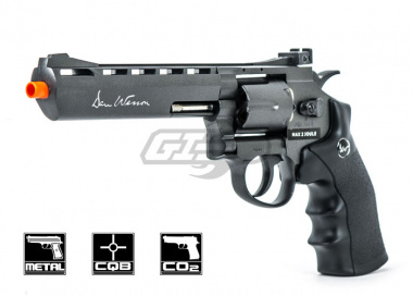"ASG Dan Wesson 6"" CO2 Grey Revolver w/ Custom Dan Wesson Gun Case"