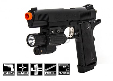 ASG STI 1911 Shell Ejecting Pistol Airsoft Gun (6mm/Black) by Marushin