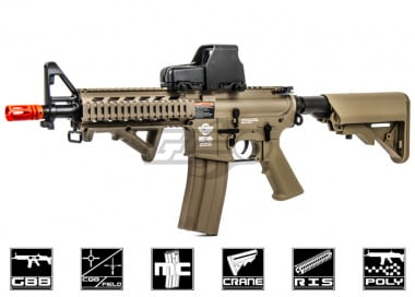 G&G Combat Machine M4 Raider Shorty Gas Blow Back Airsoft Gun ( Tan / Version 2 )