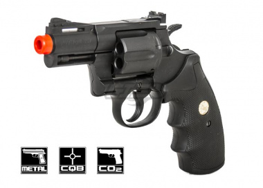 "Colt Python 2.5"" 357 CO2 Revolver Airsoft Gun Licensed by Cybergun"