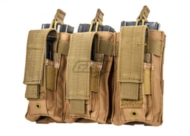 Condor Outdoor Triple M4 Kangaroo Magazine Pouch ( TAN )
