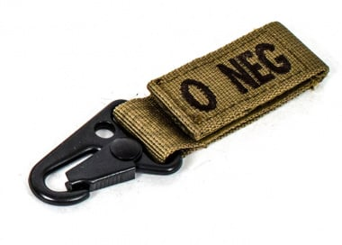 Condor Outdoor O Negative Blood Type Key Chain ( Tan )