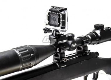 Capture Your Hunt Rifle Scope Mount w/ Keeper for GoPro