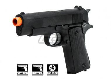 CYMA ZM22 1911 Defender Compact Metal Spring Pistol Airsoft Gun