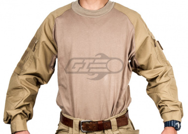 TMC Combat Shirt By Lancer Tactical  ( Tan / Med )