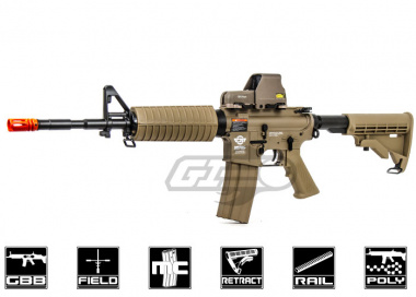 G&G Combat Machine M4 Carbine Gas Blow Back Airsoft Gun ( Tan / Version 2 )