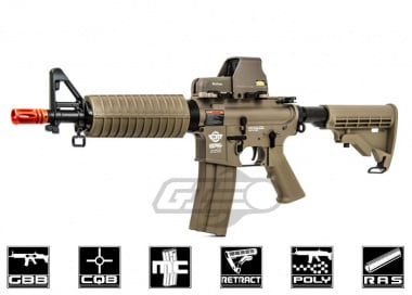 G&G Combat Machine M4 CQB Gas Blow Back Airsoft Gun ( Tan / Version 2 )