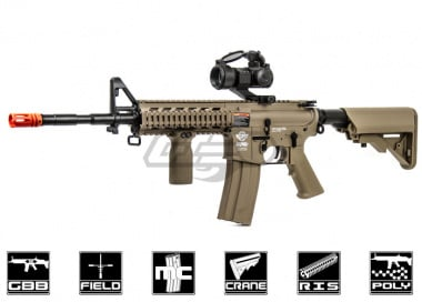 G&G Combat Machine M4 Raider Gas Blow Back Airsoft Gun ( Tan / Version 2 )