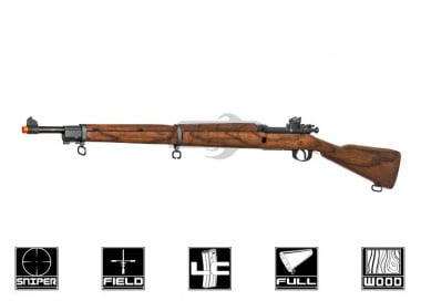 G&G Real Wood Full Metal GM1903 A3 Gas / CO2 Bolt Action Rifle Airsoft Gun
