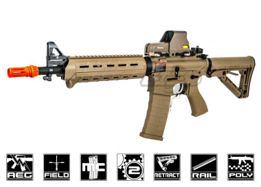 G&G Top Tech Full Metal TR4 MOD 0 Carbine AEG Airsoft Gun ( Tan )