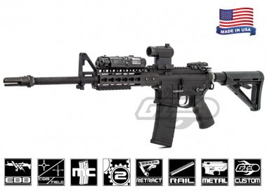 Airsoft GI Magpul RM4 Custom Blackout Electric Blow Back Airsoft Gun