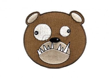 ill Gear v2 Biohazard Bear Head Tracker Velcro Patch ( Brown )