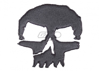 ill Gear Monster Tactical Skull Velcro Patch (  Gray )