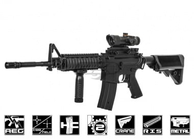 JG M4 SOPMOD Enhanced AEG Airsoft Gun ( Black )