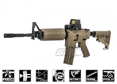 JG M4A1 Enhanced AEG Airsoft Gun ( Tan )