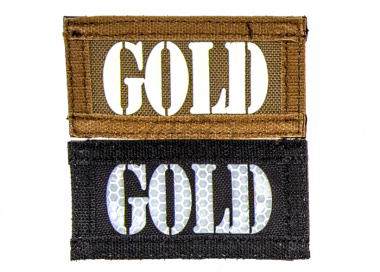 "Lancer Tactical ""GOLD"" Reversible Velcro Patch ( Brown Side-Glow In Dark / Black Side-IR )"