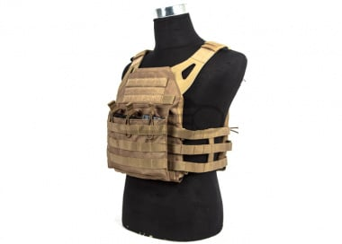 Lancer Tactical JPC Jumpable Plate Carrier w/ 2 Sapi Plates ( Coyote Brown )