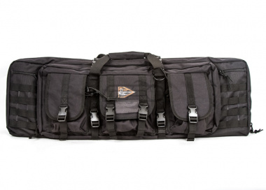 "Lancer Tactical Gun Bag 36"" double compartment, Black"