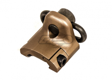 Lancer Tactical Hand Stop Sling Swivel Mount ( Tan )