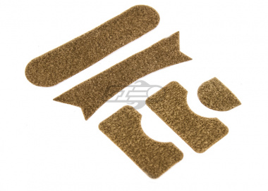 Lancer Tactical FAST Helmet MH Type Velcro Padding Sticker Set ( Tan )