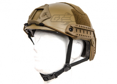 Lancer Tactical FAST Helmet Ballistic Type w/ Retractable Visor ( Dark Earth / Basic Version )