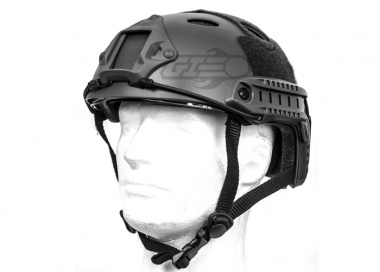 Lancer Tactical FAST Helmet PJ Type w/ Retractable Visor ( Black / Basic Version )