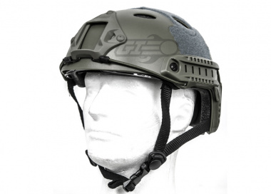 Lancer Tactical FAST Helmet PJ Type w/ Retractable Visor ( Foliage Green / Basic Version )