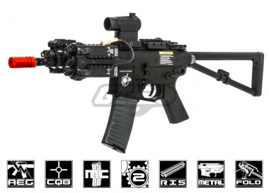 Knight's Armament PDW Full Metal AEG Airsoft Gun By Lancer Tactical