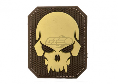MM Pirate Skull PVC Large Patch ( Desert )