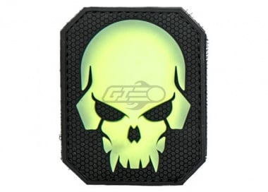 MM Pirate Skull PVC Large Patch ( Green Glow )