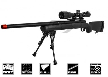 Modify M24 Bolt Action Sniper Rifle Airsoft Gun ( Pre-Upgraded ) ( Black )