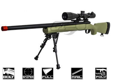 Modify M24 Bolt Action Sniper Rifle Airsoft Gun ( Pre-Upgraded ) ( OD )